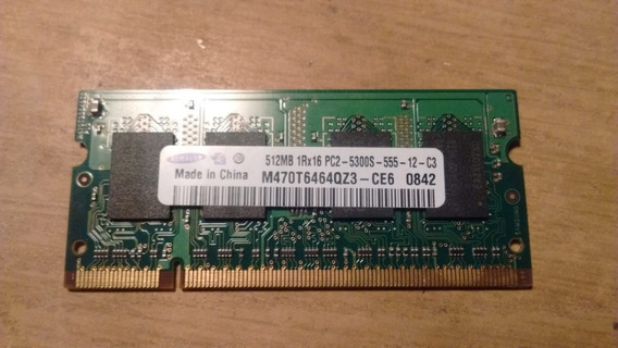Memoria Samsung Para Notebook Ddr2 512mb