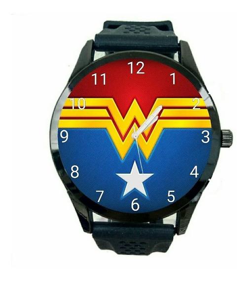Mulher Maravilha Relógio Feminino Promoção Oferta Dc Comics Quadrinhos T211