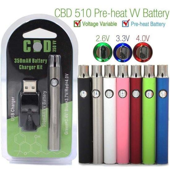 2 Piezas Pila Bateria Cbd Original Para Wax/thc/cbd Rosca510