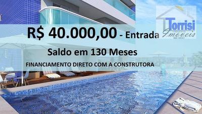 Apartamento Em Praia Grande, 02 Dormitórios Sendo 01 Suíte, Sala Com Sacada Gourmet, 02 Vagas. Lazer Completo Na Aviação Ap1805 - Ap1805