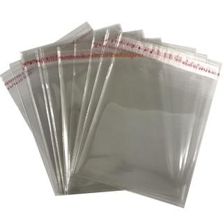 100 Saco Adesivado Plastico Transparente 35x45 Cm + Aba