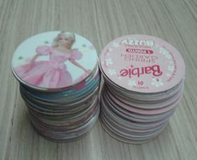 Lote Com 10 Tazos Da Coleção Buzzy Caps - Barbie