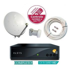 Kit Elsys Oi Tv Livre Receptor Etrs 35 Lnb Duplo Antena 60cm