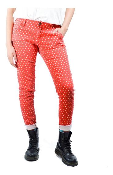 Pantalón Rojo Con Puntos Blancos Tommy Girl