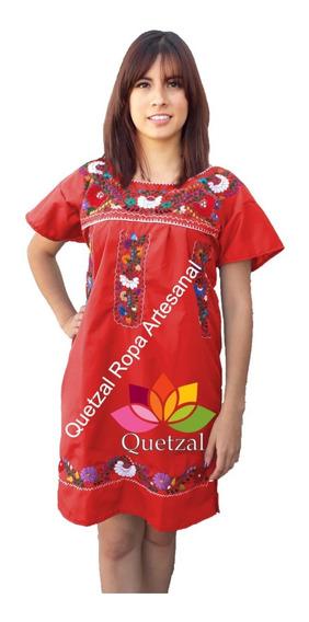 Vestido Dama Mexicano Artesanal Bordado Típico Tradicional