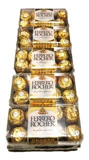 Pack Ferrero Rocher. 5 Cajas Con 16 Chocolate Cada Una.