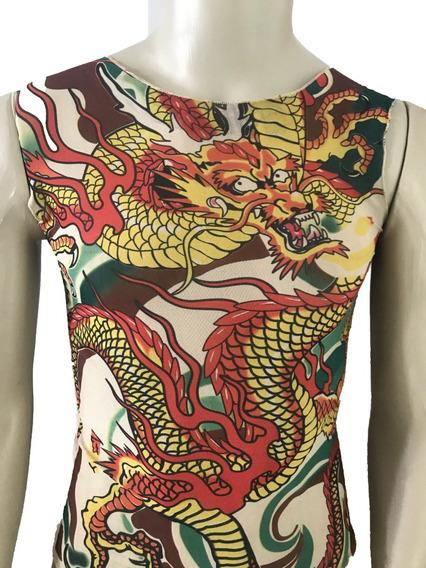 01 Camisa Tatuagem Camiseta Falsa Fake Segunda Pele Tattoo