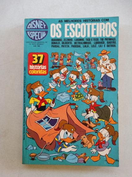 Disney Especial Nº 10! 1ª Edição! Os Escoteiros! Abr 1974!