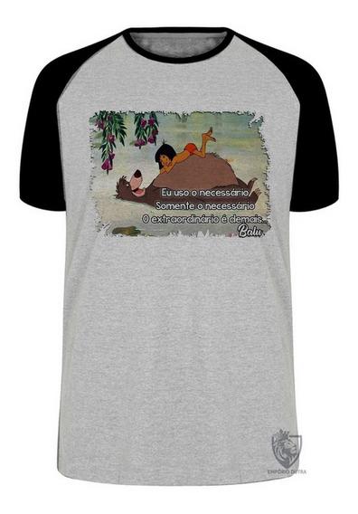 Camiseta Blusa Balu Urso Mogli Menino Lobo Disney Desenho