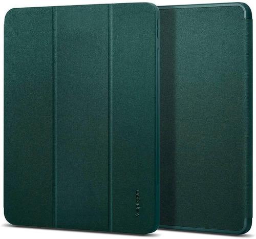 Imagen 1 de 6 de Funda Spigen Urban Fit Para iPad Pro 12.9 Porta Lapiz Verde