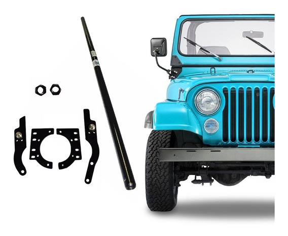 Kit Braços Sos Munhão High Steer + Barra De Direção Jeep
