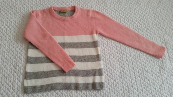 Sweater Niña Rapsodia Rayado Pelo De Conejo Talle 6/8