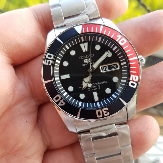 Relógio Seiko Snzf15 K1 Pepsi - Diver Automático - Novo