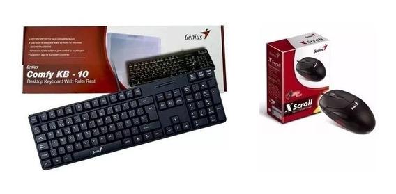 Kit Genius Teclado Kb-10 Y Mouse Genius Usb Pc Laptop Tablet