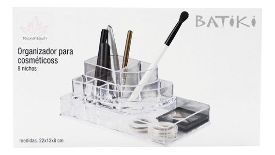 Porta Maquiagem Pincel Batom Organizador Acrilico 8 Nichos
