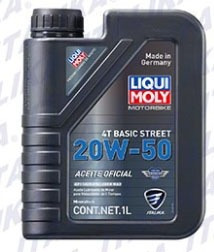 Caja De Aceite Liqui Moly 20 W 50 4t (6 Pzas)