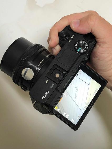 Camera Sony A6300 + Lente Kit 16-50