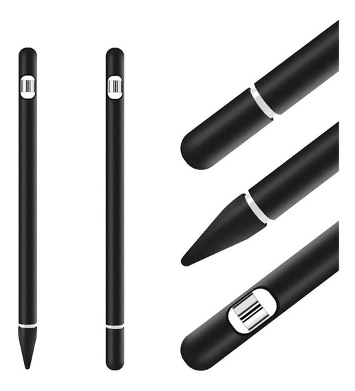 Case Silicone Apple Pencil iPad Pro Proteção Conforto 4 Em 1