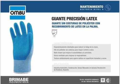 Guante Precisión Látex Ombu Antideslizante Certificado Iram