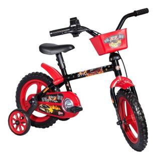 Bicicleta Infantil Aro 12 Hot Styll Vermelha De 3 A 5 Anos