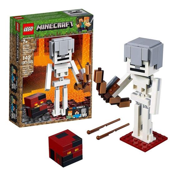 Lego Minecraft 21150 Esqueleto Con Cubo De Magma 142 Pzs