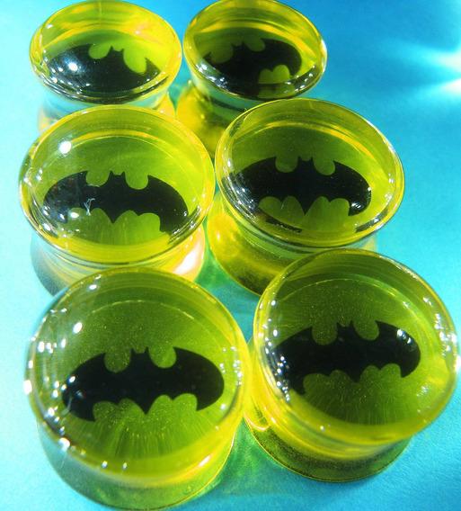 Alargador Batman Em Acrilíco 8,10,12 E 14mm