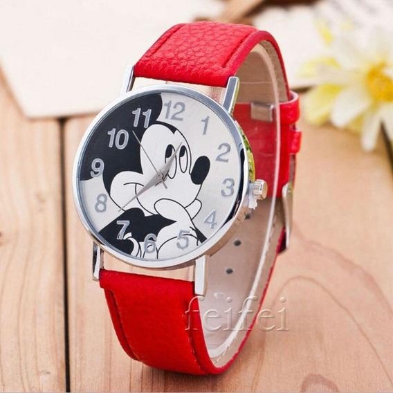 Relógio De Pulso Mickey Mouse Menina Criança Adolescente 175