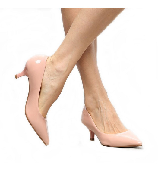 Sapato Scarpin Salto Médio Estilo Noiva Luxo Lindo 2019