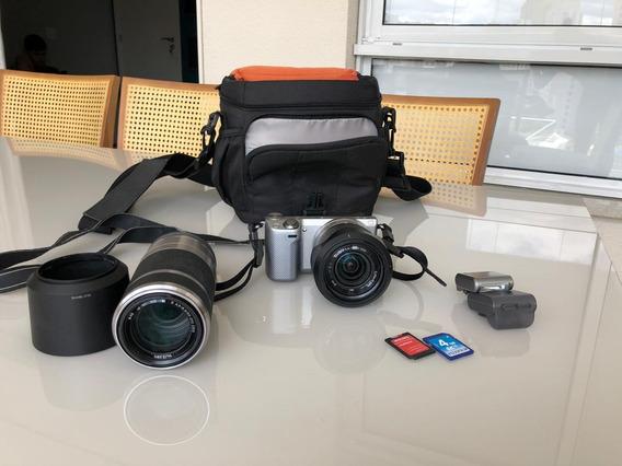 Câmera Sony Nex-5r + Lente Sel55210 Vom Zoom Óptico