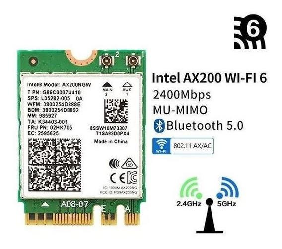 Placa Wi-fi 6 Intel Ax200 5ghz - Alienware 15 R3 E 17 R4