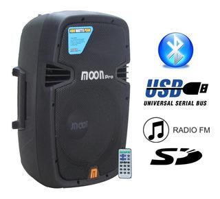 Caja Moon Wild8aup Potenciado Usb Radio C.remoto Bluetooth