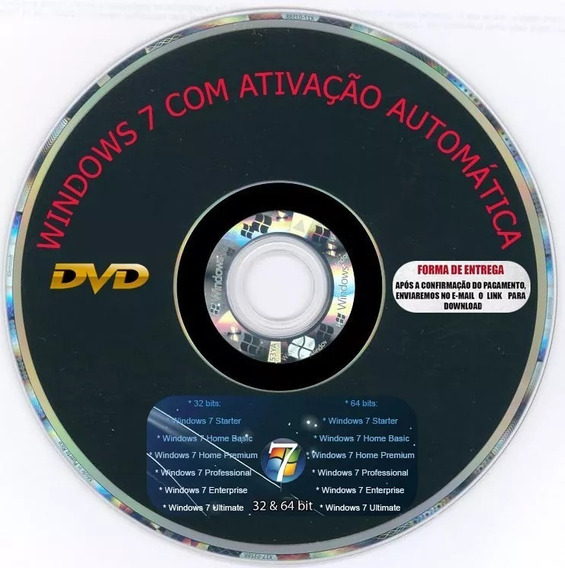 Windows 7 32bits E 64bits Totalmente Ativado Pt Brasil