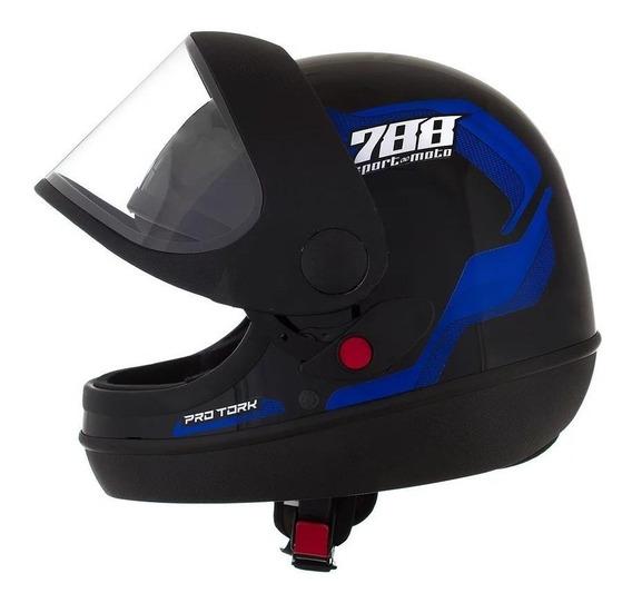 Capacete para moto integral Pro Tork Sport Moto 788 azul L