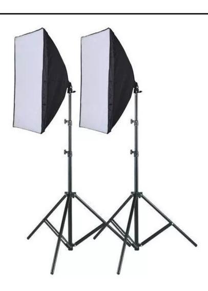 2 Softbox De Iluminação Para Foto E Video C/ 4 Bocais Cada