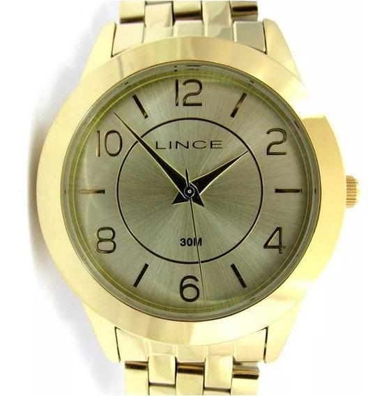 Relógio Lince Feminino Folhado Lrg4306l C2kx