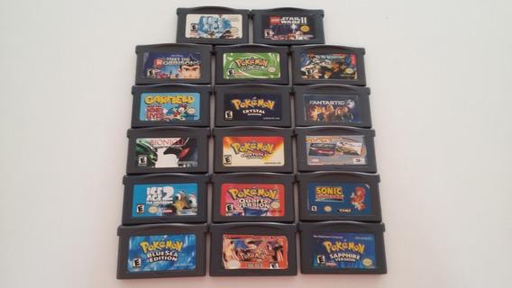 Lote De 17 Jogos Game Boy Advance - Pokemon, Sonic E Outros
