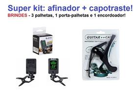 Afinador Digital Joyo + Capotraste + Brindes!!!