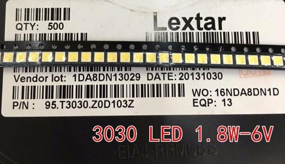 10x Led Backlight 3030 6v 1,8w Pt30w45 Toshiba Sti Philco