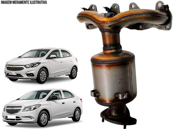 Coletor Com Catalisador Novo Original Tuper Chevrolet Onix 1.0/1.4 8v 2012 A 2019 Prisma 1.0/1.4 8v 2013 A 2019