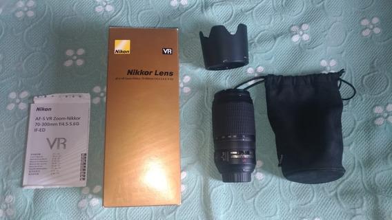 Lente Nikon 70-300mm Seminova Completa
