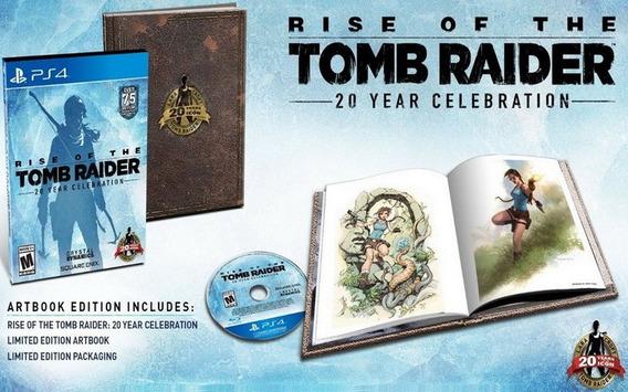 Rise Of The Tomb Raider + Libro Arte Ps4 Nuevo Sellado Juego