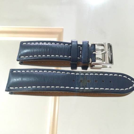 Breitling 22mm Fecho + Pulseira 100% Originais 22mm Cor Azul