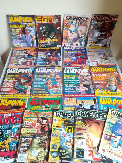 Lote 21 Revistas De Video Game Antigas Super Gamepower Etc..