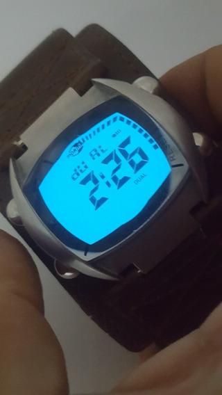 Relógio Mormaii Digital - Pulseira Em Couro