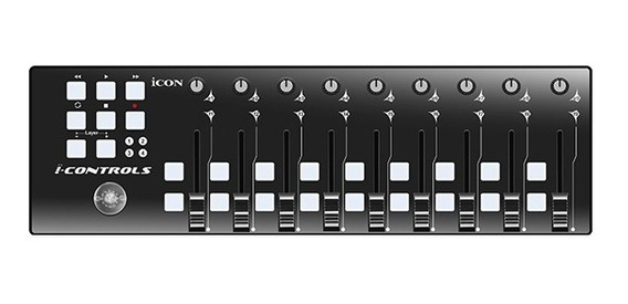 Controlador Midi Icon Icontrols Black