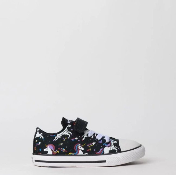 Tênis All Star Preto Unicornio Ck07750001 Original C/nf