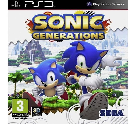 Jogo Sonic Generations Ps3 Midia Digital Cod.psn Envio Já