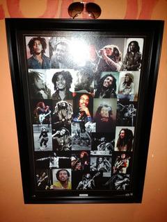 Poster Reggae Bob Marley En Carton Y Cuadro Original