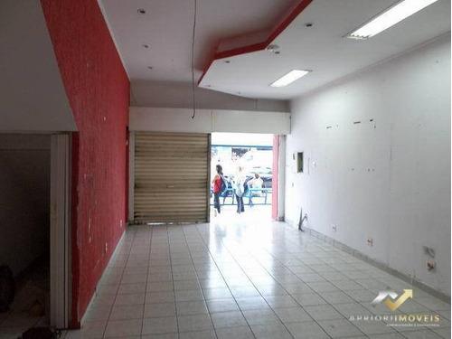 Salão Para Alugar, 90 M² Por R$ 4.500,00/mês - Centro - Santo André/sp - Sl0107