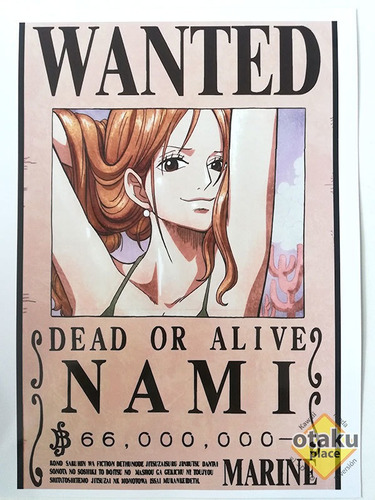 Poster One Piece Mediano Wanted De Nami